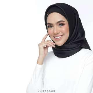 🚚 Musalmah Square Shawl by Nyleascarf - Black