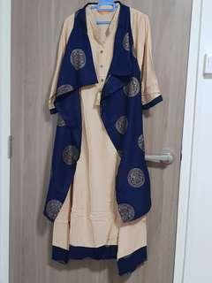 🚚 Beautiful silk anarkali with coat!