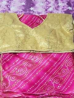 🚚 Price reduced Indian bandhani saree!!