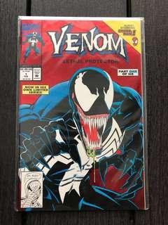 🚚 Venom comic issue 1 collector edition red foil cover
