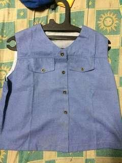 outer rompi jeans