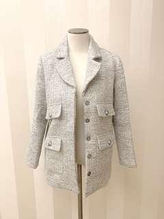 西裝外套 銀白色 suit