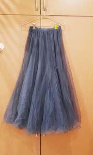 Puffy Tulle Maxi Skirt