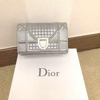 Dior Wallet bag silver mini size