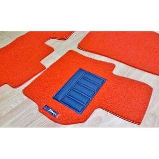 MITSUBISHI ATTRAGE OEM FITMENT CAR FLOOR COIL MATS FRONT DRIVER/PAX REAR FULL ONE PCS TOTAL 03 PCS COLOR AVAILABLE - RED, BLACK ,GREY ,BEIGE ,BROWN ,GREEN & BLUE...