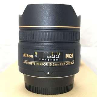 Nikon Fisheye 10.5mm F2.8 DX