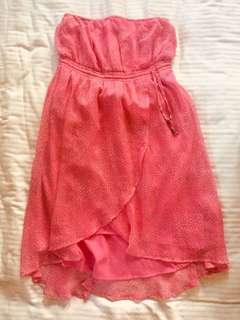 Pink Roxy Tube Dress