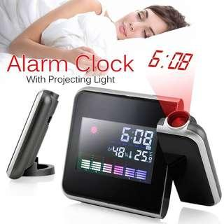 Digital Alarm Clock with Projecting Light Display [CR0029]