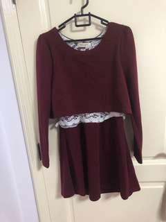 🚚 Maroon dress