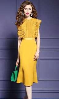 🚚 Brand new mustard yellow dress