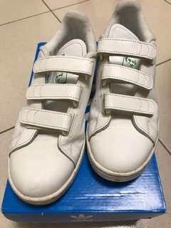 Adidas originals Stan Smith 經典綠標黏扣 us7.5 25.5cm