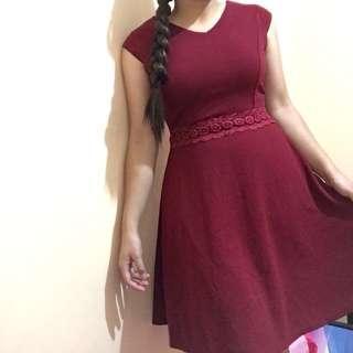 Reddish maroon dress