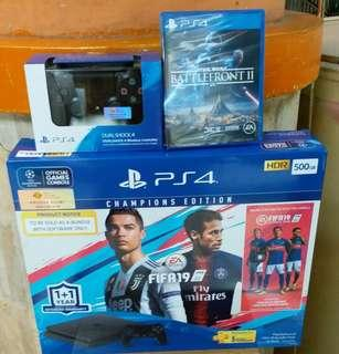 PS4 SLIM 500GB BUNDLE FIFA 19 CHAMPIONS EDITION