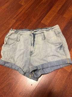 🚚 BDG washed out denim shorts