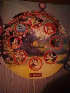 迪士尼樂園新年貼紙