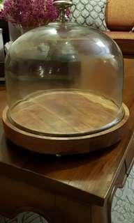 🚚 Solid Wood Cake Dome #SpringCleanAndCarouSell