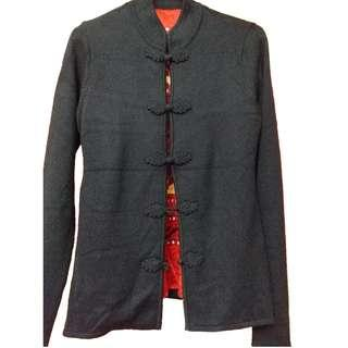 Shanghai Tang Mongolian cashmere jacket with silk lining