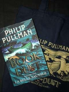 Book of Dust (La Belle Sauvage #1) by Philip Pullman OME Export + tote bag that came with the book