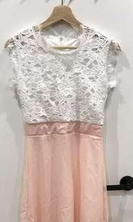 White and light pink summer dress!