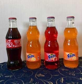 Coca Cola Collectibles mini bottle bottles Fanta orange strawberry soft drink