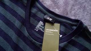 H&M Tshirt (Stripes Dark Green)