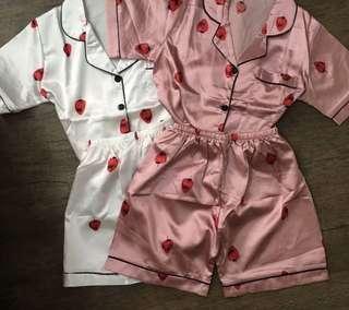 Strawberry Silk Sleep Wear Set