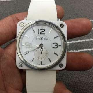 柏萊士 Bell & Ross Ceramic BR-S 98 -WCS 白色 陶瓷 石英 39mm 手錶..免運費