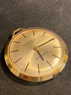 德國KIENZLE金銅機械上鏈古董懷錶