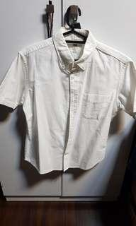 Uniqlo slim fit Short sleeve white shirt