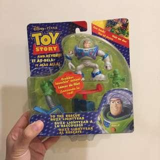 全新未拆 收藏出清 玩具總動員 巴斯光年 BUZZ 公仔 玩偶 盒裝 老玩具 皮克斯