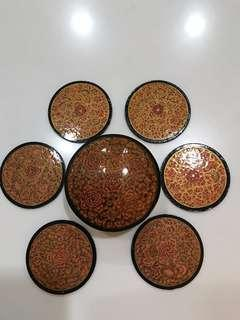 Lacquer wood coasters
