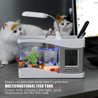 Mini Fish Tank Aquarium Desktop Clock  [CR0035]