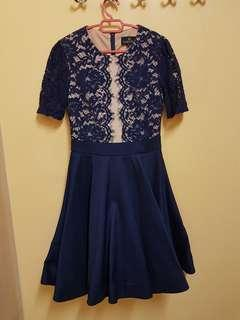 Blue Lace Dress doublewoot