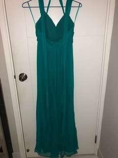 Turquoise BCBG Maxazria Gown/Dress (worn once)