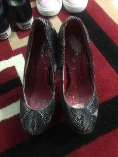 AMANTE HIGH HEELS 👠 SNAKE LEATHER
