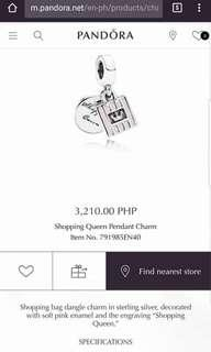 Pandora Shopping Queen pendant charm