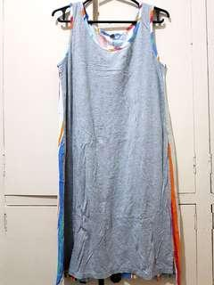 Uniqlo Sleeve-less Dress with Stylish Pattern at the back (M)