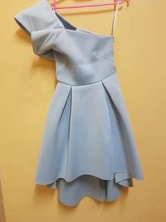 Off Shoulder Dress doublewoot light blue