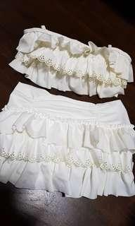 White swim suit brand new