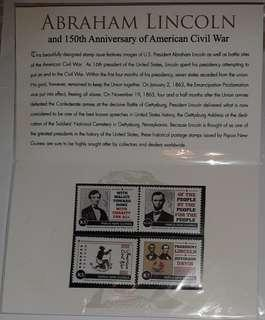 Stamp Pack - Abraham Lincoln and 150th Anniversary of the American Civil War