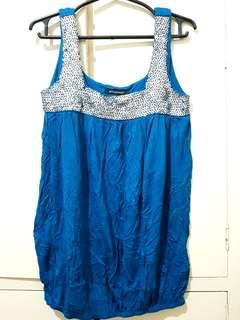 Sequined Sleeveless Royal Blue Bubble Top (M)