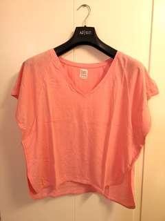 Zara pink cotton top