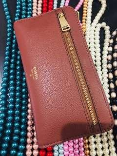 Dompet Fossil Preston Flap Clutch Brown
