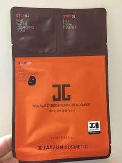 Jayjun real water brightening black mask $6/pc