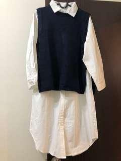 🚚 背心➕長版襯衫