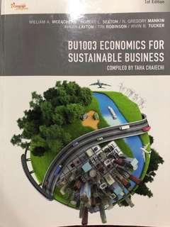 BU1003 Economics For Sustainable Business Textbook