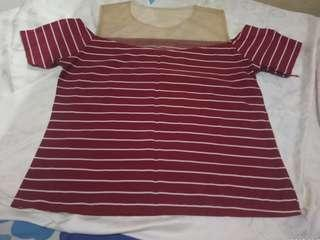 Top Stripes merah