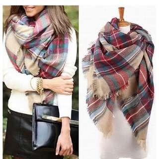 Tartan Plaid Blanket Scarf (pick up only)