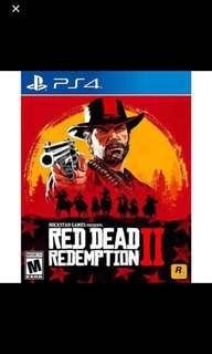 Ps4 red redemption 2