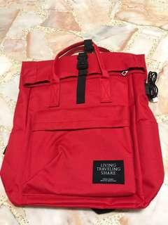 🚚 red colour backbag